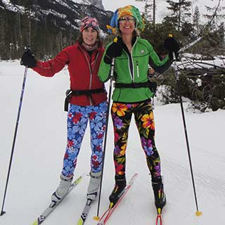 Tights work great for cross country skiing